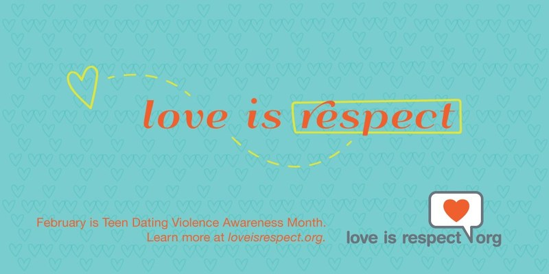 February is Teen Dating Violence Awareness Month! This year's theme, Love is ... Respect,  will celebrate loveisrespect's 10th anniversary, while raising awareness about healthy relationships and dating abuse throughout February. Get involved, and share the message that Love Is Respect! (PRNewsFoto/Loveisrespect)