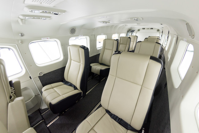 Individual, executive, leather seating for up to 9 guests.
