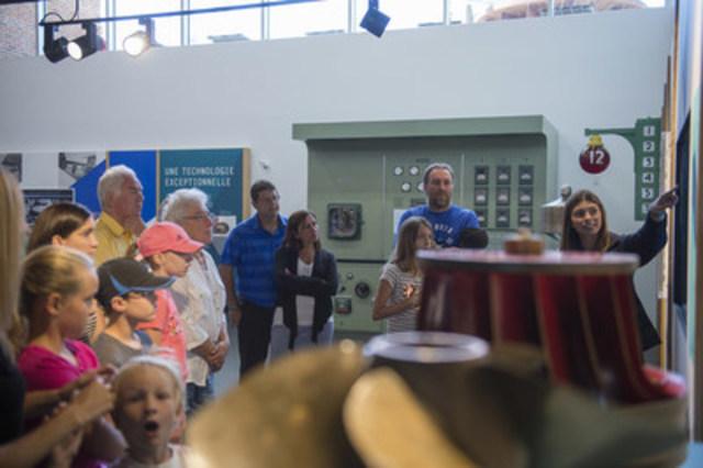 La relâche à la centrale de Beauharnois : une sortie inusitée et gratuite pour toute la famille (Groupe CNW/Hydro-Québec)