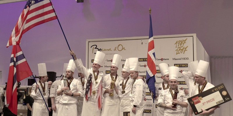 Hestan Chef Philip Tessier Coaches Team USA to Gold at Bocuse d'Or 2017