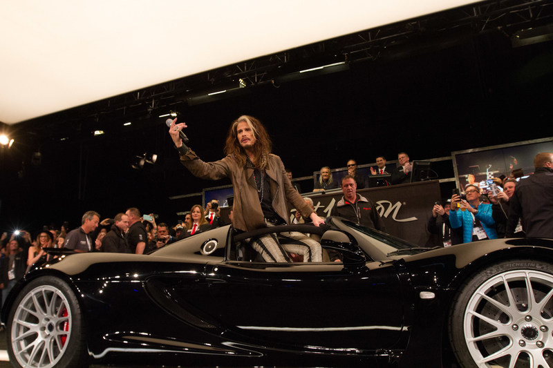 Steven Tyler auctions his rare Hennessey Venom GT sports car for Janie's Fund, his philanthropic partnership with Youth Villages.
