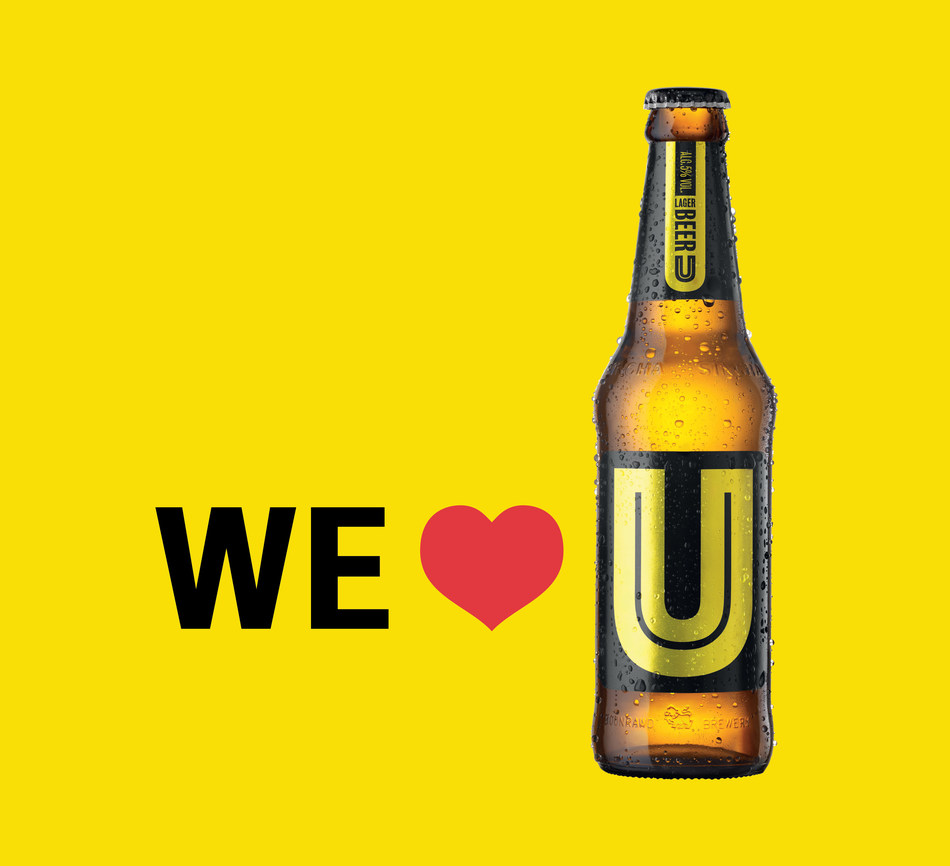 Happy Valentine's Day from U Beer! (PRNewsFoto/Singha Corp.)
