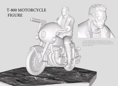 T-800 on Motorcycle Miniature for The Terminator(TM): The Official Board Game