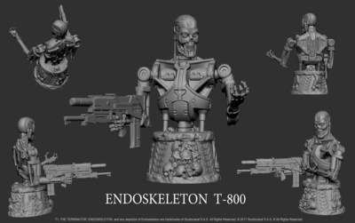 T-800 Endoskeleton Player Token for The Terminator(TM): The Official Board Game