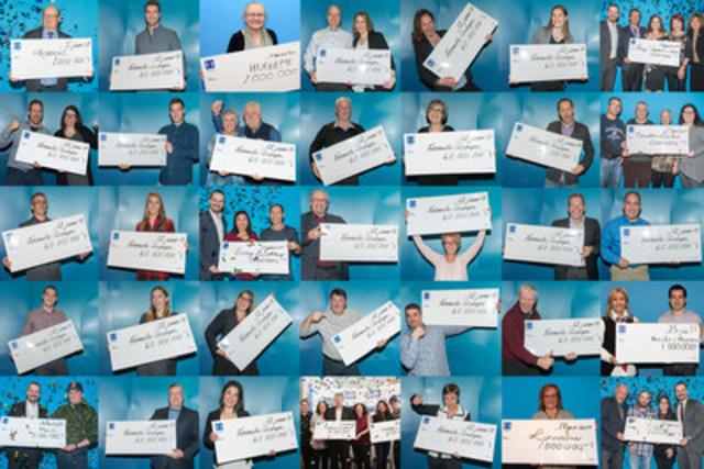 Quelques-uns de nos gagnants de lots de 1 000 000 $ ou plus en janvier. (Groupe CNW/Loto-Québec)