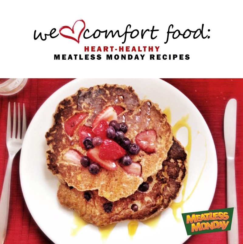 Romance your heart all year long with delicious, nutritious ideas from the free e-cookbook: We ♡ Comfort Food: Heart-Healthy Meatless Monday Recipes. The cookbook is available as a free PDF download from the Meatless Monday website: http://bit.ly/mmcomfort2