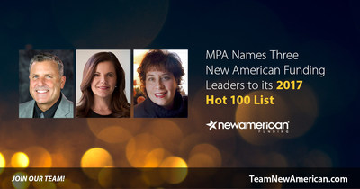 MPA Names Three New American Funding Leaders to Its 2017 Hot 100 List.