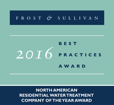 Aquasana Receives 2016 North American Residential Water Treatment Company of the Year Award