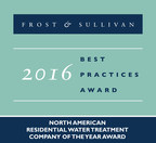 Frost & Sullivan Names Aquasana, Inc. North American Company of the Year for Residential Water Treatment