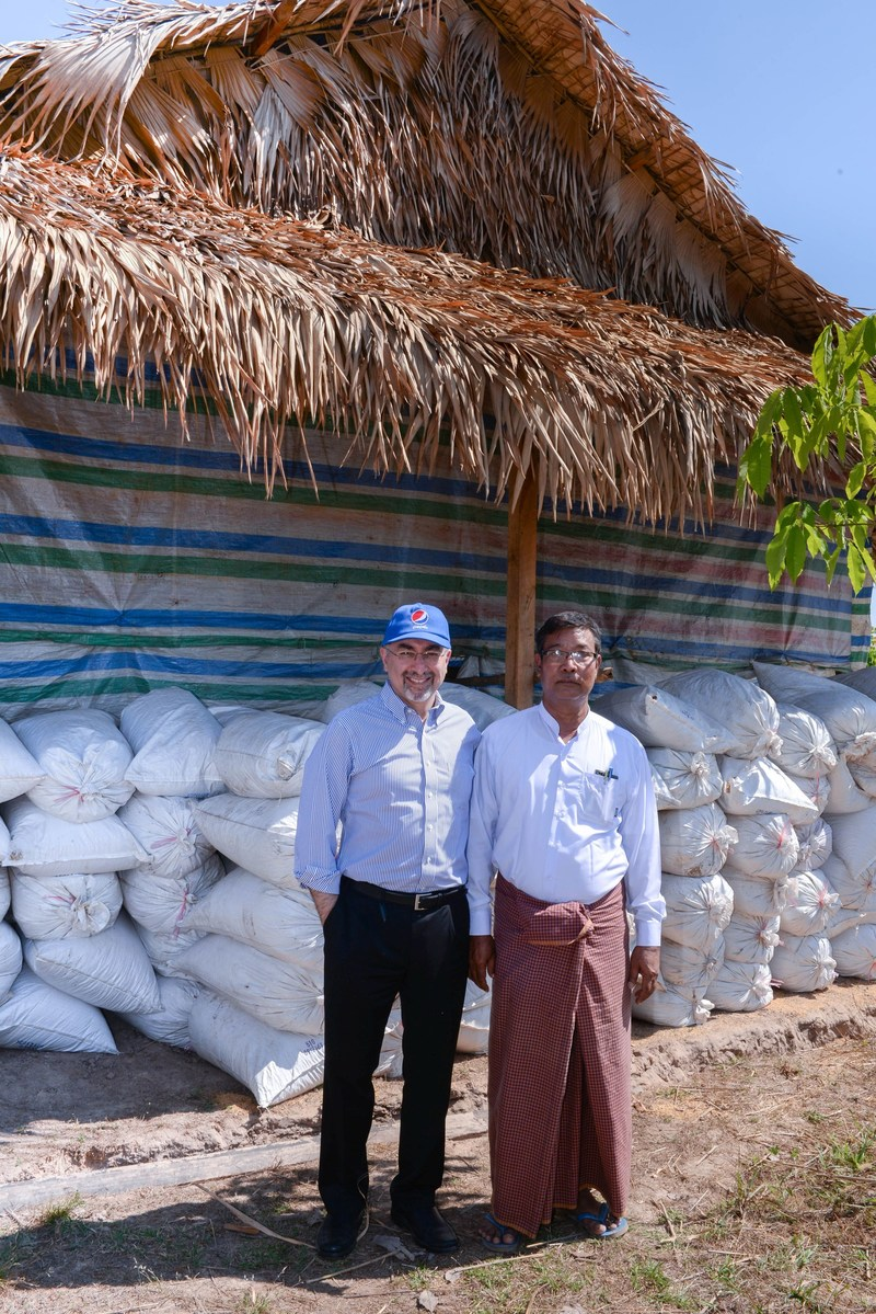 PepsiCo Asia, Middle East and North Africa CEO Sanjeev Chadha visited the Kayin State in Myanmar where PepsiCo, in partnership with Positive Planet, is supporting a project to provide economic opportunities to local people. (PRNewsFoto/PepsiCo)