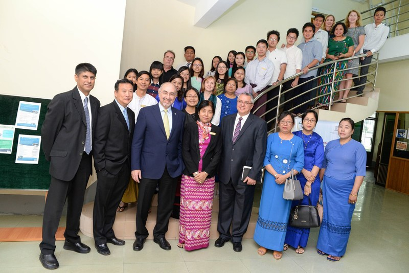 PepsiCo Asia, Middle East and North Africa CEO Sanjeev Chadha and company leaders announced PepsiCo's continued support of the Centre of Excellence for Business Skills Development in Yangon, a partnership with UNESCO and the Yangon University of Economics. (PRNewsFoto/PepsiCo)