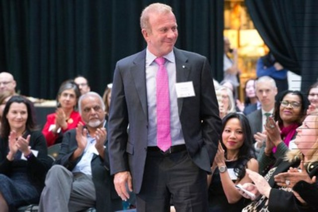 Philanthropist Peter Gilgan at the announcement of the collaborative $12 million gift he has made together with the Canadian Cancer Society to establish The Peter Gilgan Centre for Women's Cancers at Women's College Hospital. Photographer credit: Salvatore Sacco (CNW Group/Women's College Hospital Foundation)
