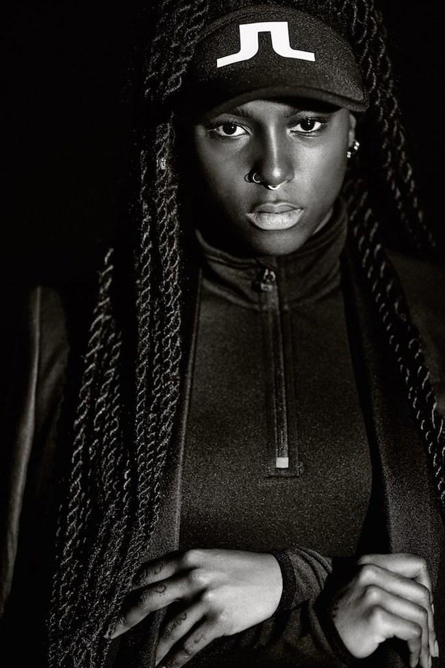Sabina Ddumba photographed by Johan Lindeberg for JL Bridge Series 2