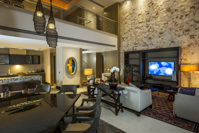 Interior of Grand Luxxe suite features luxury amenities and beautiful decor