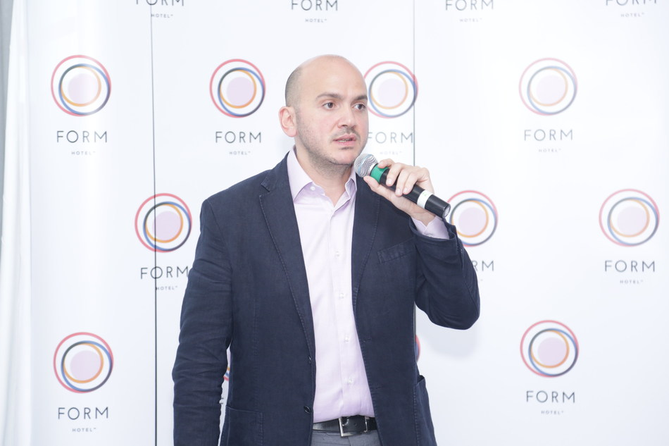 Tarek M. Daouk, Founder and Managing Partner of Smartotels Hospitality International LLC announces the launch of FORM Hotel Dubai. (PRNewsFoto/Smartotels)