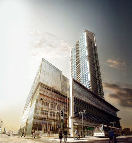 SkyCity Centre tower planned for downtown Winnipeg (CNW Group/Fortress Real Developments)