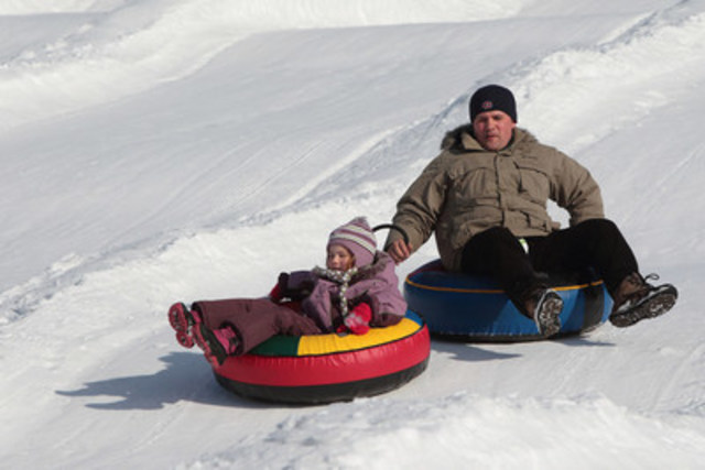 Tube sliding. (CNW Group/SOCIETE DU PARC JEAN-DRAPEAU)