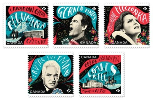 Canadian Opera stamps (CNW Group/Canada Post)