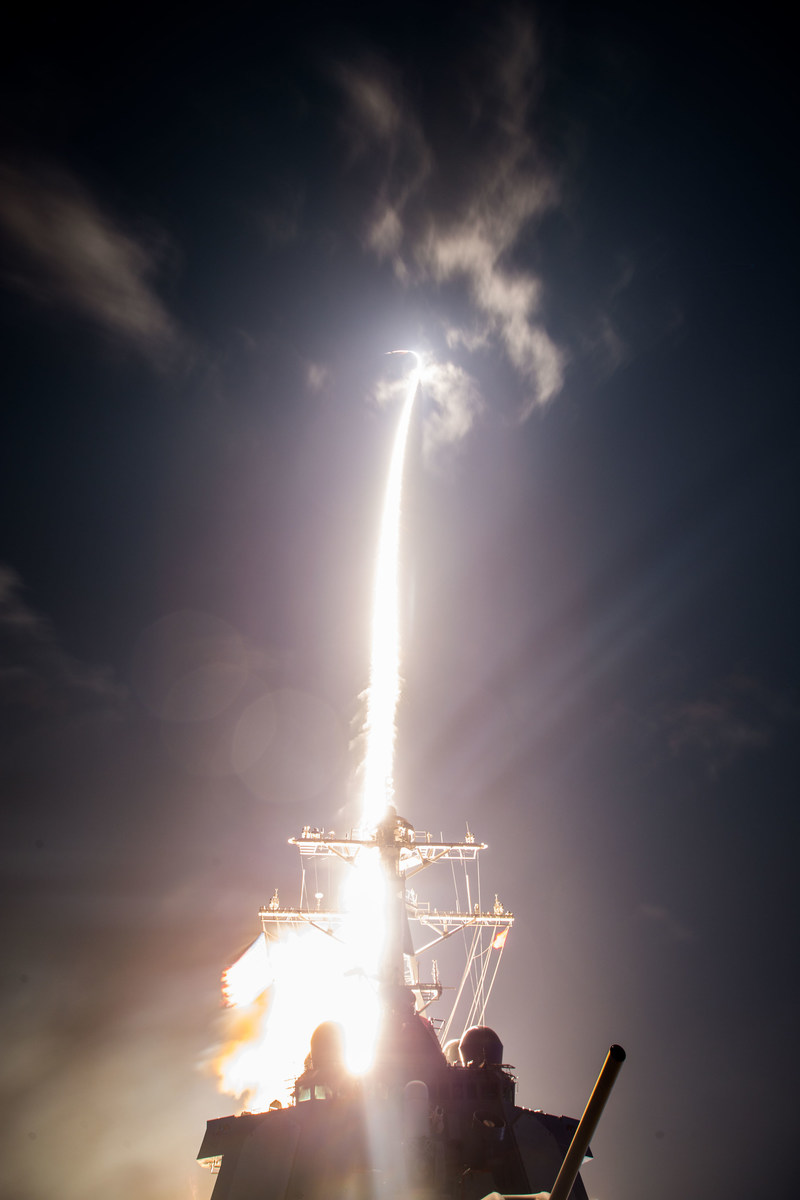 A February 2017 test from the Pacific Missile Test Range demonstrated the first shipboard tracking and engagement of a ballistic missile target by the Baseline 9.2 (BMD 5.1) Aegis Weapon System. Photo courtesy Missile Defense Agency.