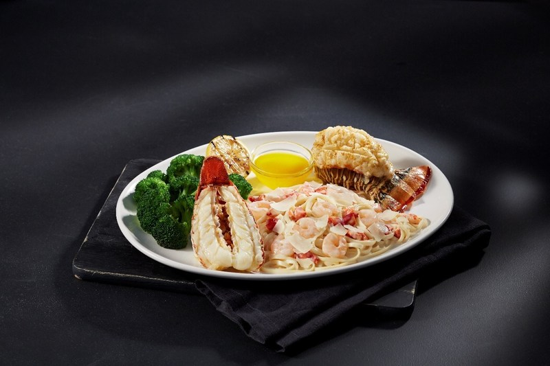 During Red Lobster's Lobsterfest(R), guests can enjoy the Lobster Lover's Dream, a returning guest-favorite, featuring a succulent roasted rock lobster tail and sweet split Maine lobster tail, steamed and served with Lobster-and-Shrimp Linguine Alfredo.