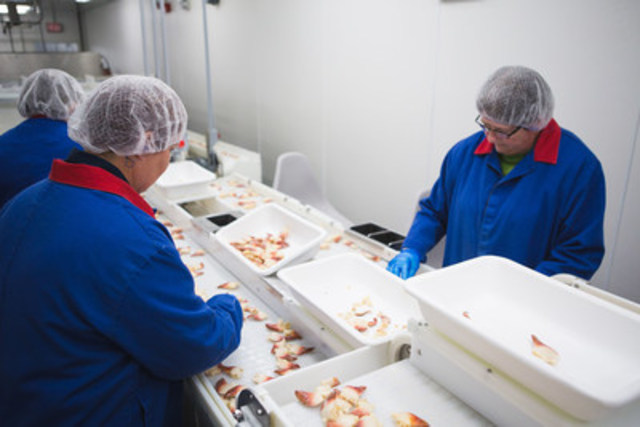 Additional investments will be made in Clearwater's existing Grand Bank, Newfoundland and Labrador facility to increase grading and processing, improve infrastructure and expand production of additional value-added product formats. (CNW Group/Clearwater Seafoods Incorporated)