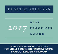 Frost & Sullivan recognizes Kenandy, Inc. with the 2017 North American Product Leadership Award. (PRNewsFoto/Frost & Sullivan)