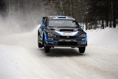 David Higgins gets air at Rallye Perce-Neige 2017