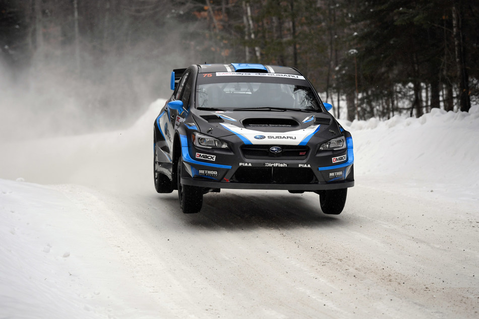 David Higgins gets air at Rallye Perce-Neige 2017