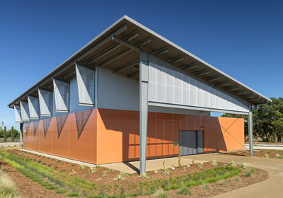 Window shading and sun shading, Jess Jackson Sustainable Winery Building, UC Davis, CA. Photo: Jasper Sanidad