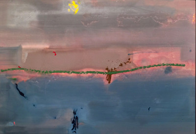 "Helen Frankenthaler, ""By Wind and Water,"" 1982, Painting, Acrylic on canvas, 61-1/2"" x 91"" - on view at Booth 307, Art Palm Springs, Jonathan Novak Contemporary Art"