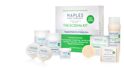 Naples Soap Company has introduced The Eczema Kit, a line of specially formulated and soothing fragrance-free products, designed to provide a head-to-foot natural solution for eczema, psoriasis and dry, itchy skin.