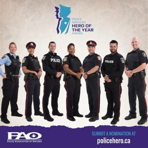 PAO Police Services Hero of the Year (CNW Group/Police Association of Ontario)