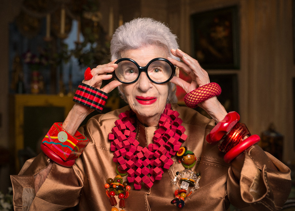 Grand Dame of Fashion Iris Apfel to Set Sail on Cunard's 2017 Transatlantic Fashion Week