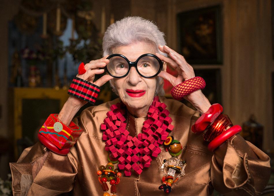 Grand Dame of Fashion Iris Apfel to Set Sail on Cunard's 2017 Transatlantic Fashion Week
