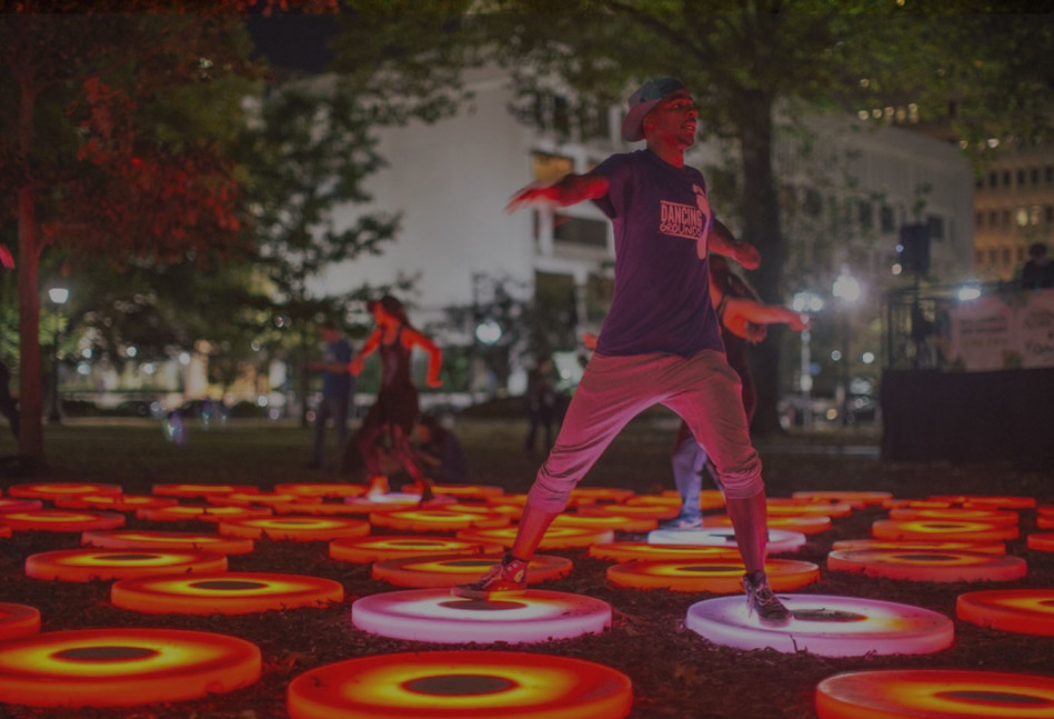 """The arts drive vibrant and diverse communities and are critical to neighborhood health and well-being. Pictured here is Jen Lewin Studio's """"The Pool"""" at Lafayette Square, New Orleans. Photo credit: Marcus Alfred."""
