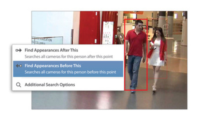 Figure 1. Avigilon Appearance Search technology in ACC 6.0 (CNW Group/Avigilon Corporation)