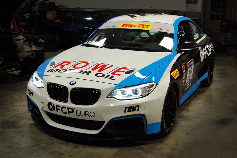 ROWE joins title sponsor FCP Euro in its partnership with Rooster Hall Racing for the 2017 Pirelli World Challenge season in a BMW M235iR