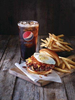 "For a limited time only, burger lovers and sports fans alike are invited to enjoy the Applebee's All-in Burger Meal Deal - one of four featured burgers, fries and a Pepsi for only $9.99 - for lunch at their local Applebee's, and join the ""All-in Burger Debate"" for a chance to win great prizes."