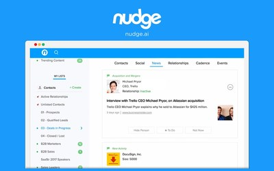Nudge officially launched their Team Plan on February 7th, 2017.
