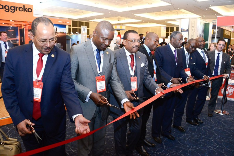 Ministers of Energy officially open the exhibition in London at the Africa Energy Forum in 2016 (PRNewsFoto/EnergyNet)