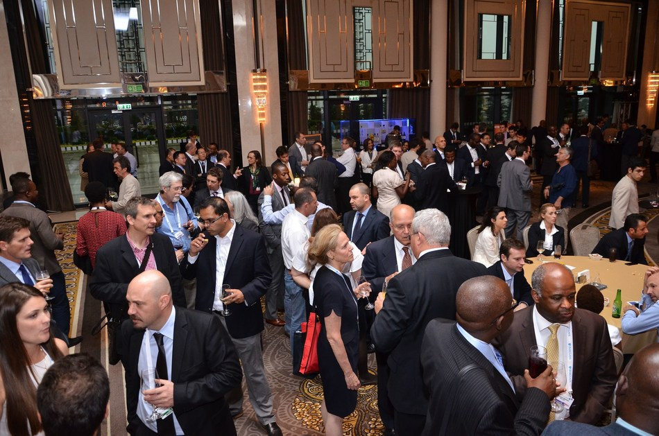 Delegates network in the exhibition hall of the annual Africa Energy Forum (PRNewsFoto/EnergyNet)