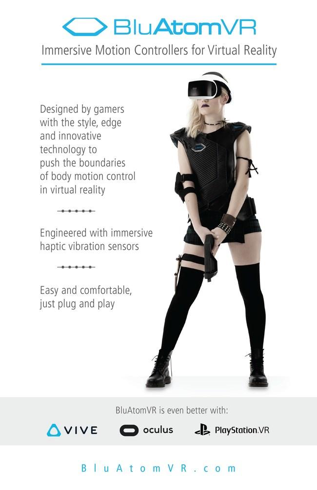 BluAtomVR Announces World's 1st Immersive Wireless VR Vest
