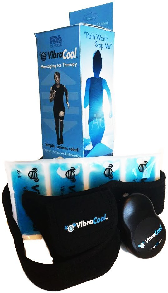 VibraCool(R) harnesses the same physiologic pain relievers of high frequency massage and ice in a product optimized for a wider range of pain sufferers.