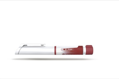 Haselmeier's innovation D-Flex stands out in the market primarily thanks to its uniqueness. No comparable product can be deployed so flexibly and at the same time deliver patient safety. It closes the gap between fixed-dose pens which only allow a single fixed dose, and variable-dose pens where the dose can be finely adjusted by the patient. The D-Flex can therefore be configured for several fixed doses. (PRNewsFoto/Haselmeier AG)
