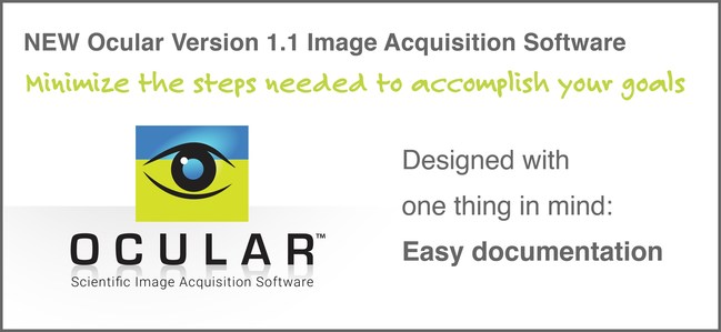 New Version 1.1 Ocular(TM) Scientific Image Acquisition Software from QImaging