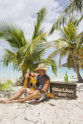 Kenny Chesney enjoys his Blue Chair Bay(R) Key Lime Rum Cream; Courtesy of Blue Chair Bay(R) Rum