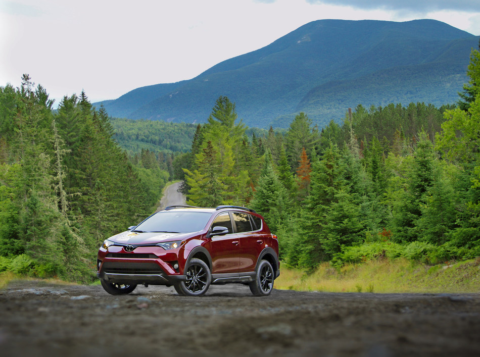 For the 2018 model year, the popular RAV4 compact crossover adds a new Adventure grade for young families looking for fun in out-of-the-way places.