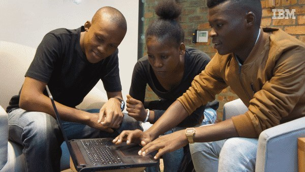 Students use the Watson-powered portal to develop skills for their diverse career paths. (PRNewsFoto/IBM Corporation)