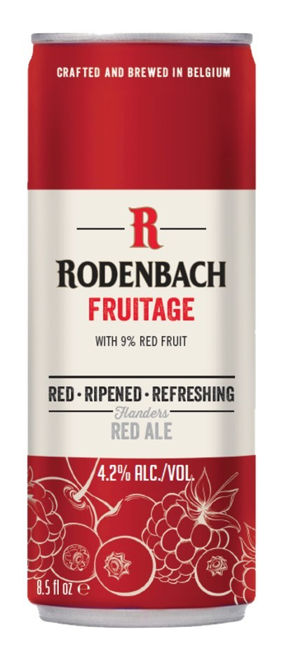 RODENBACH Fruitage - a new, refreshing offering from the iconic Belgian brewer. 4.2% ABV blended Rodenbach with fruit enhancements.