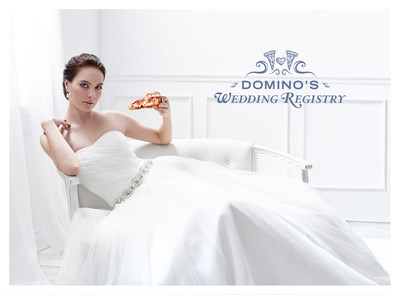 Wedding bells are ringing at Domino's. Starting today, the recognized world leader in pizza delivery is rolling out the aisle runner for its very own wedding registry at dominosweddingregistry.com.